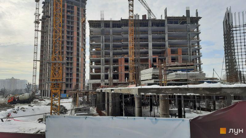Хід будівництва ЖК Новопечерські Липки, 7 черга (3, 4 будинки), лютий 2021