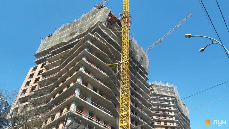 Хід будівництва ЖК Diadans, 1, 2 будинки, лютий 2021