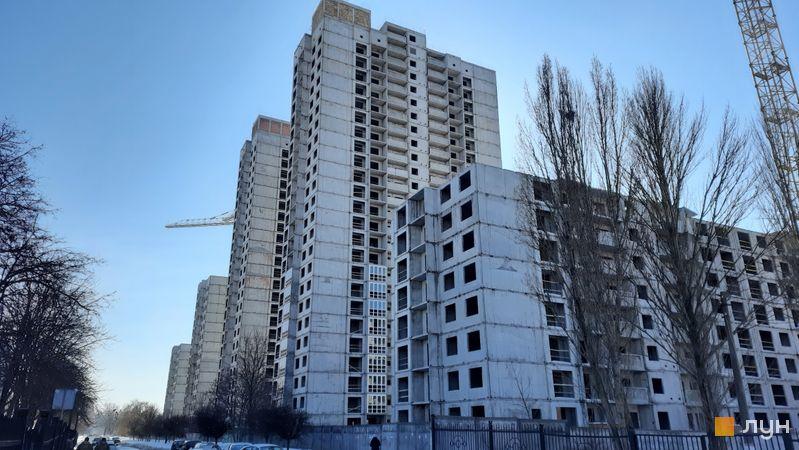 Хід будівництва ЖК Еврика, 22 будинок, лютий 2021