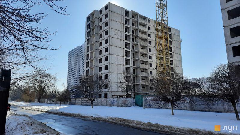 Хід будівництва ЖК Еврика, 25 будинок, лютий 2021