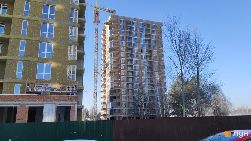 Хід будівництва ЖК Krona Park II, 3.2 будинок, лютий 2021