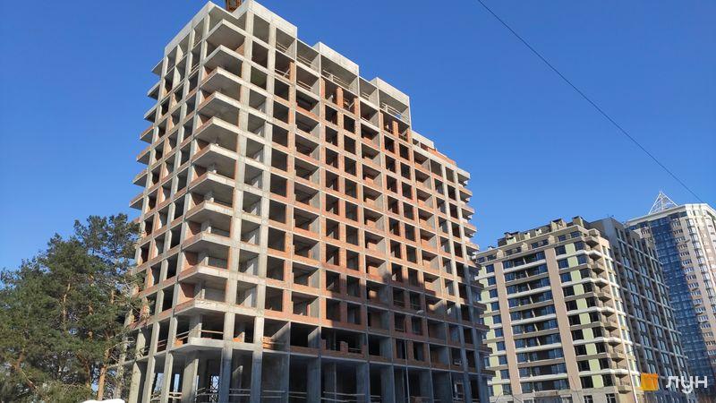Хід будівництва ЖК Krona Park II, 2.1 будинок, лютий 2021
