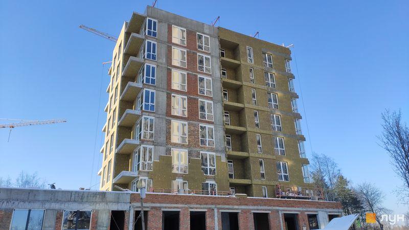 Хід будівництва ЖК Krona Park II, 1.2 будинок, лютий 2021