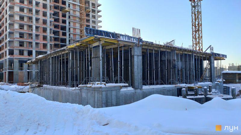 Хід будівництва ЖК Krona Park II, 7 будинок, лютий 2021