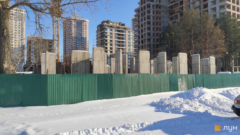 Хід будівництва ЖК Krona Park II, 6 будинок, лютий 2021