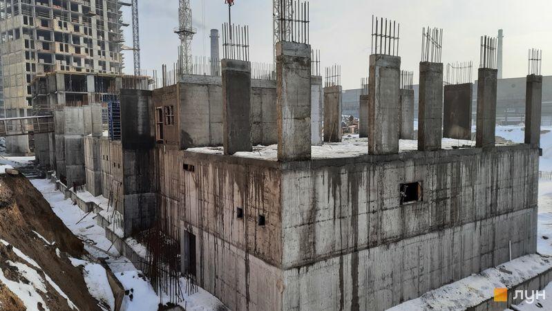 Хід будівництва ЖК Нивки-Парк, 10 будинок, лютий 2021