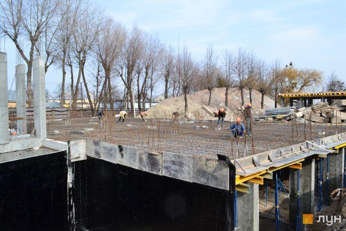 Ход строительства ЖК Містечко Підзамче, ЖК Брама (секция А5, Б4), март 2021