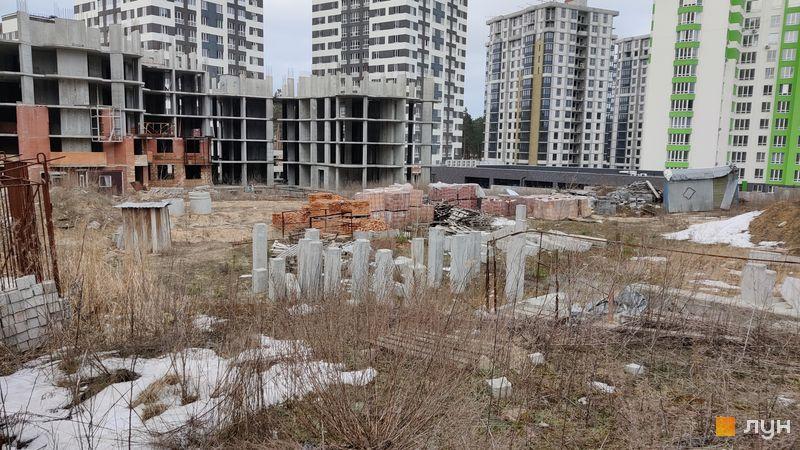 Ход строительства ЖК Sherwood Park, 2 дом, март 2021