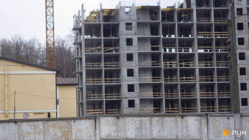 Хід будівництва ЖК Голосіївська Долина, 2 будинок  (секція 4), березень 2021