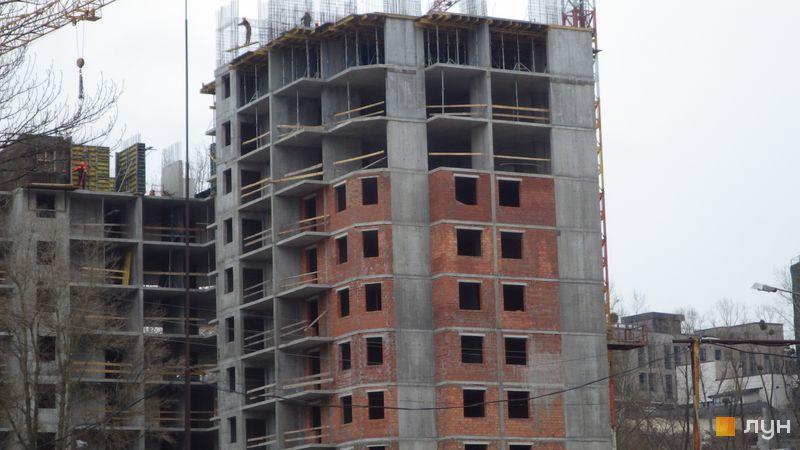 Хід будівництва ЖК Голосіївська Долина, 2 будинок  (секція 1), березень 2021