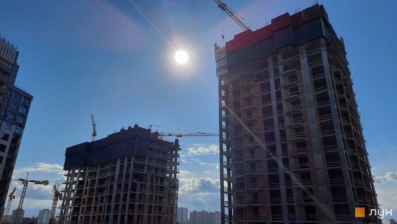 Ход строительства ЖК Новопечерские Липки, 7 очередь (1, 2 дома), март 2021