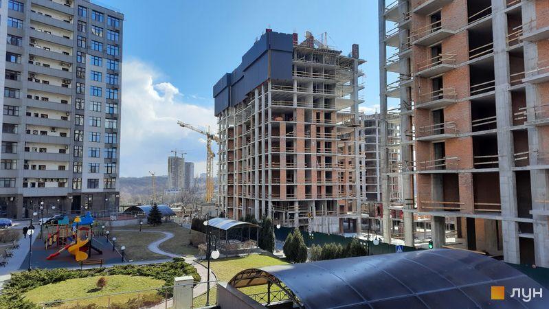 Ход строительства ЖК Новопечерские Липки, 7 очередь (2 дом), март 2021