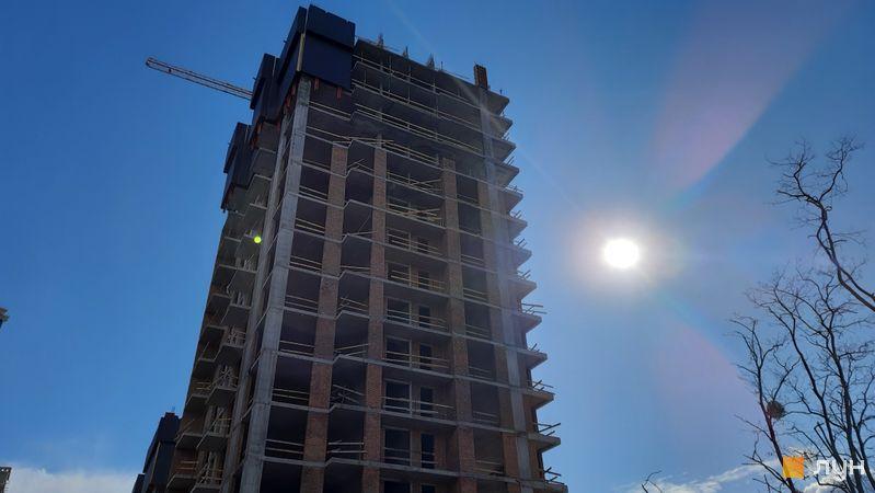 Ход строительства ЖК Новопечерские Липки, 7 очередь (1 дом), март 2021