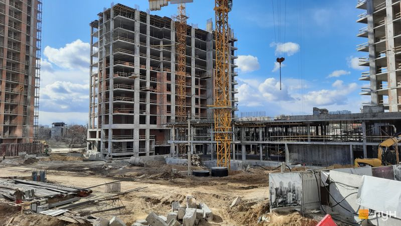Ход строительства ЖК Новопечерские Липки, 7 очередь (3 дом), март 2021