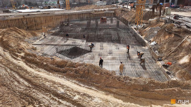 Ход строительства ЖК Новопечерские Липки, 8 очередь, март 2021