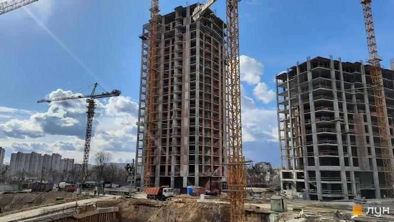 Ход строительства ЖК Новопечерские Липки, 7 очередь (4 дом), март 2021