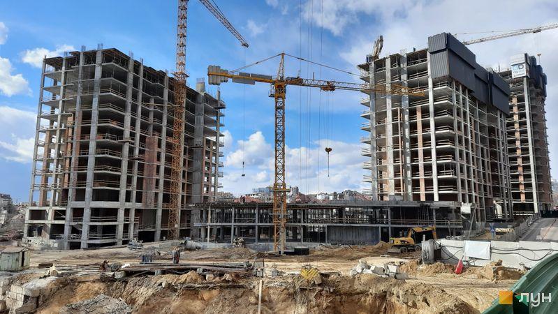 Хід будівництва ЖК Новопечерські Липки, 7 черга (1-3 будинки), березень 2021