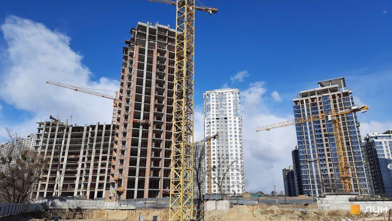 Хід будівництва ЖК Новопечерські Липки, 7 черга (3, 4 будинки), березень 2021