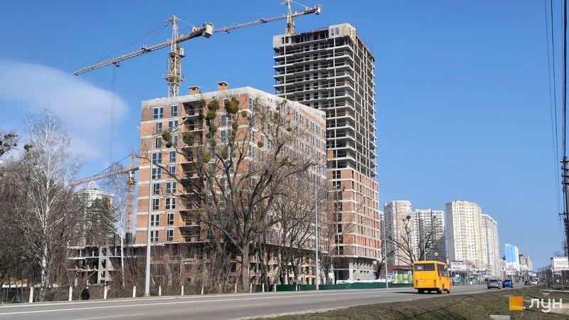 Ход строительства ЖК Madison Gardens, 1, 2 дома, март 2021