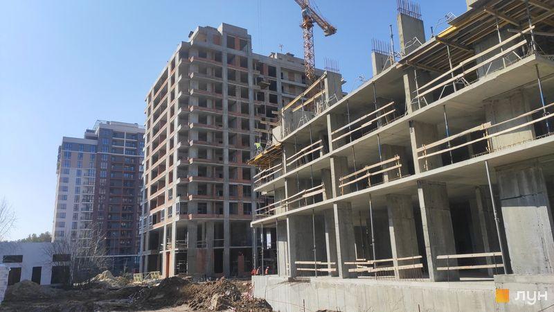 Ход строительства ЖК Krona Park II, 2.1 дом, март 2021