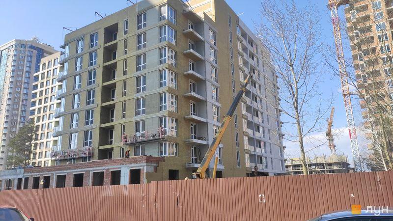 Ход строительства ЖК Krona Park II, 1.2 дом, март 2021
