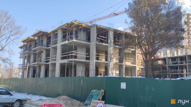Ход строительства ЖК Krona Park II, 6 дом, март 2021