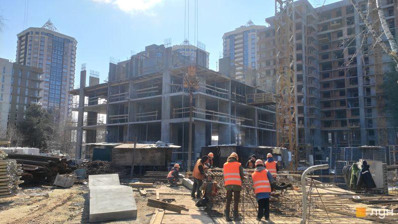 Ход строительства ЖК Krona Park II, 7 дом, март 2021