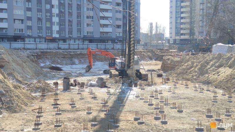 Ход строительства ЖК Krona Park II, 3 дом, март 2021