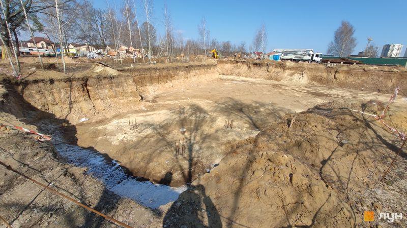 Ход строительства ЖК Krona Park II, 4 дом, март 2021