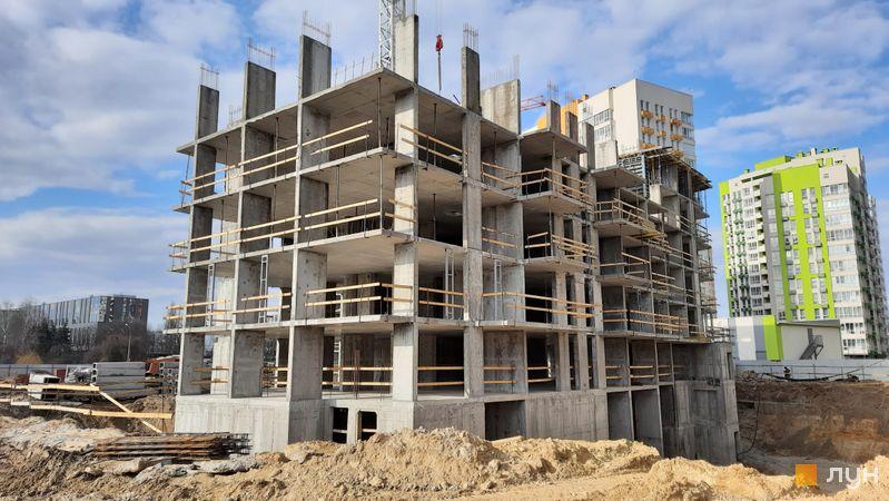 Хід будівництва ЖК Нивки-Парк, 10 будинок, березень 2021
