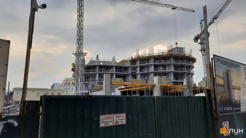 Хід будівництва ЖК OASIS, 1-2 секції, березень 2021