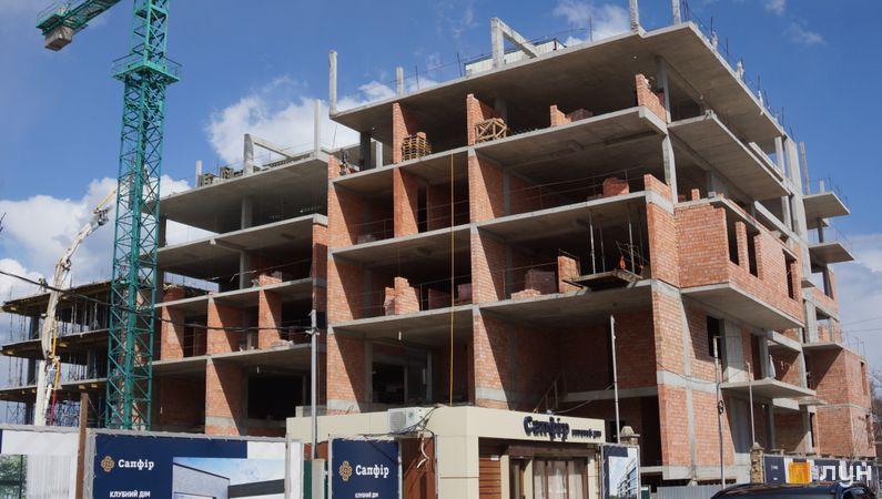 Ход строительства Клубный дом «Сапфир», Дом, апрель 2021