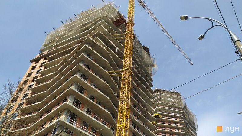 Хід будівництва ЖК Diadans, 1, 2 будинки, квітень 2021