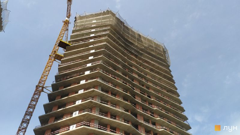Хід будівництва ЖК Diadans, 2 будинок, квітень 2021