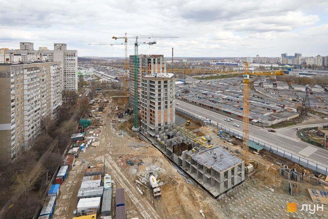 Хід будівництва ЖК POLARIS Home&Plaza, 2 будинок (секції 3.1-4.1), квітень 2021