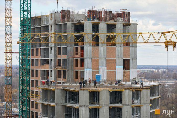 Хід будівництва ЖК POLARIS Home&Plaza, 2 будинок (секція 4.1), квітень 2021