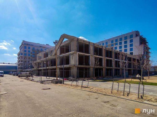 Хід будівництва Житловий район Rybalsky, 5 будинок, квітень 2021