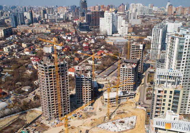 Хід будівництва ЖК Новопечерські Липки, 7 черга (1-4 будинки), квітень 2021