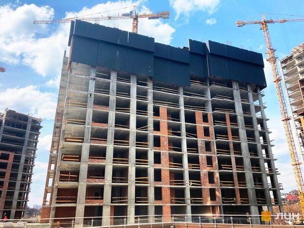 Хід будівництва ЖК Новопечерські Липки, 7 черга (2 будинок), квітень 2021