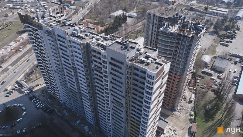 Хід будівництва ЖК Оберіг-2, 1, 2 будинки, квітень 2021