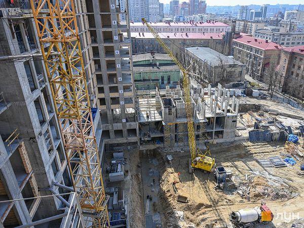 Ход строительства ЖК Stanford, 107 секция, апрель 2021