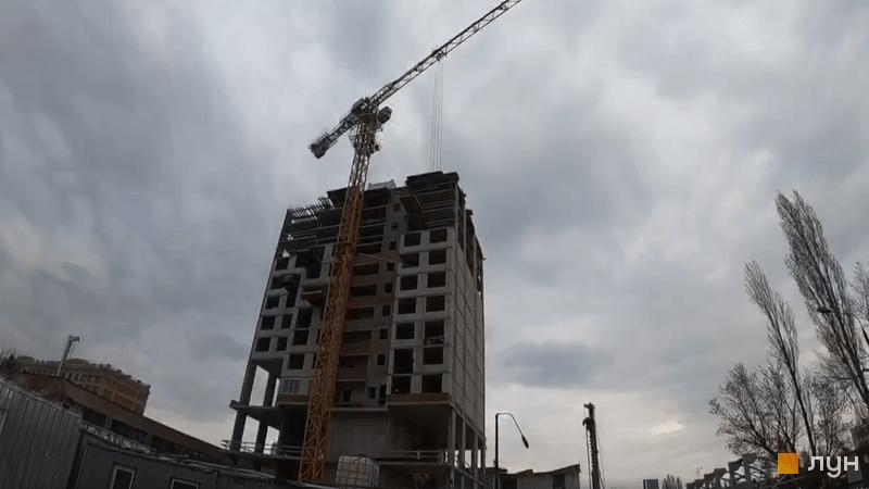 Ход строительства ЖК Olympic Park, 1 дом (секция 4), апрель 2021