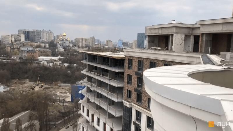 Хід будівництва ЖК Podil Plaza & Residence, 1 будинок (секція 1), квітень 2021