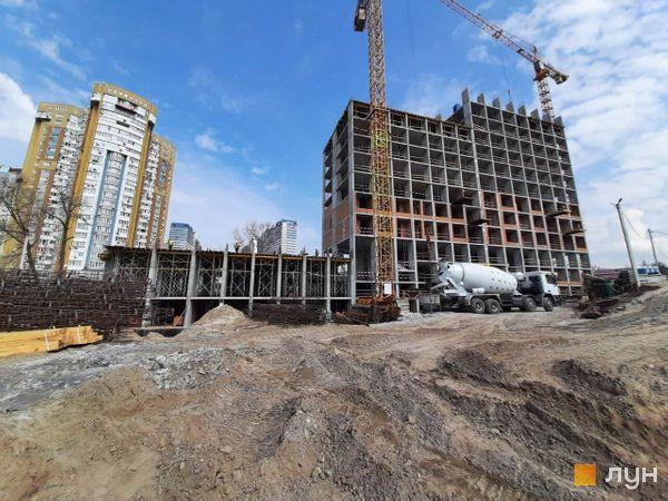 Хід будівництва ЖК Rusaniv Residence, 2-4 секції, квітень 2021