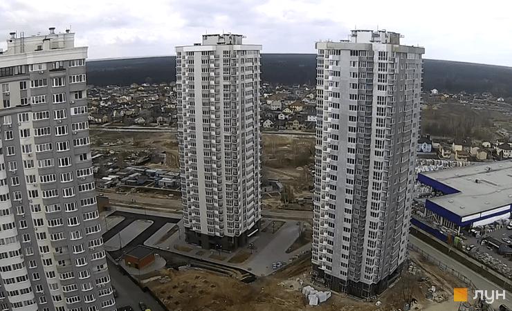 Ход строительства ЖК Лесной квартал, дома 8, 12, апрель 2021