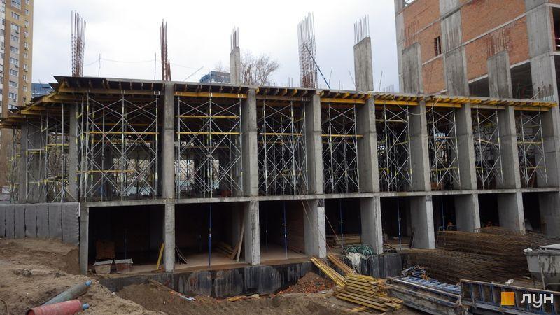 Хід будівництва ЖК Rusaniv Residence, 2 секція, квітень 2021