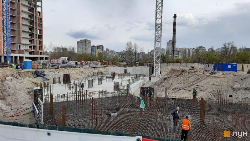 Ход строительства ЖК Причал 8, 2 дом, апрель 2021