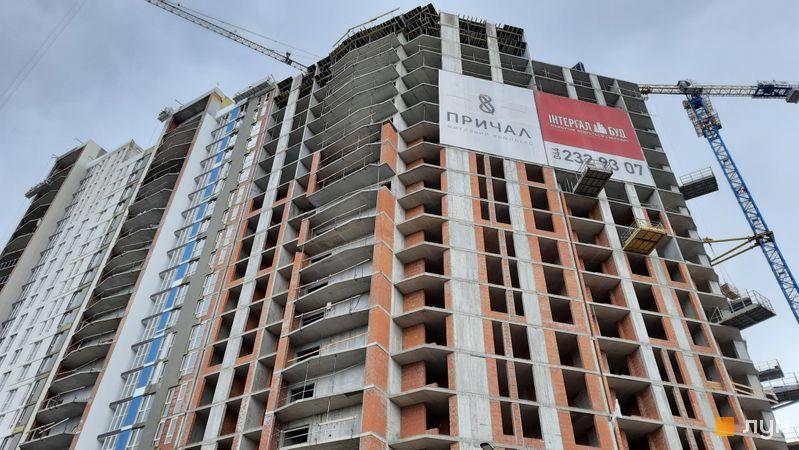 Ход строительства ЖК Причал 8, 1 дом (секция 5), апрель 2021