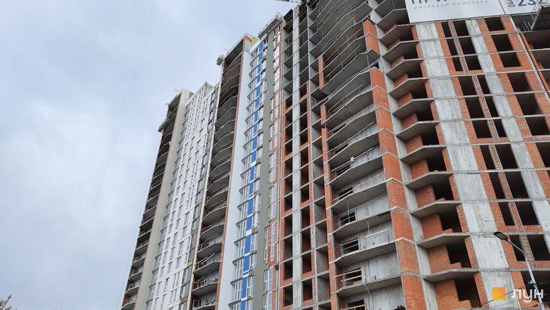 Ход строительства ЖК Причал 8, 1 дом (секции 3, 4), апрель 2021
