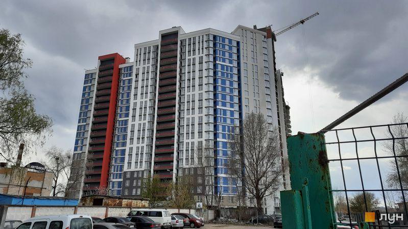 Ход строительства ЖК Причал 8, 1 дом (секции 1-3), апрель 2021
